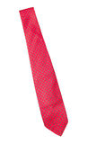 Red with green dots business neck tie Stock Image