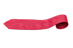Red with green dots business neck tie Stock Photography