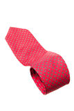 Red with green dots business neck tie Royalty Free Stock Photography