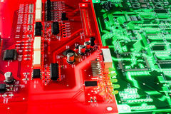 Red and green electronic board Royalty Free Stock Photo
