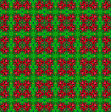 Red-green ethnic pattern. Stock Photo