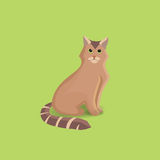 Red green-eyed  cat. Vector cartoon illustration. Red green-eyed  cat eps10 Stock Images