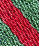 Red and green fabric used as background Royalty Free Stock Photography