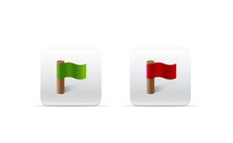 Red and green flags for web Royalty Free Stock Images
