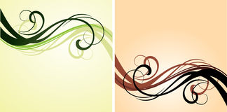 Red and green flourishes Royalty Free Stock Images