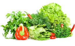 Red & green food Stock Photos