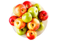 Red and green fresh apples close-up Royalty Free Stock Images
