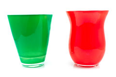 Red and green glass vase Royalty Free Stock Photography