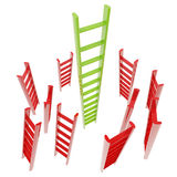 Red and green glossy ladder isolated Stock Photography