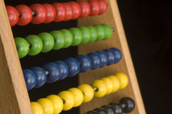 Red Green Glue and Yellow abacus Stock Photos