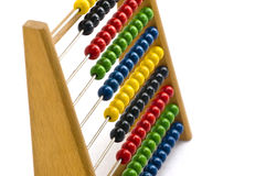 Red Green Glue and Yellow wooden abacus Royalty Free Stock Photos