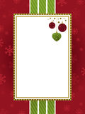 Red green and gold christmas frame Royalty Free Stock Photography