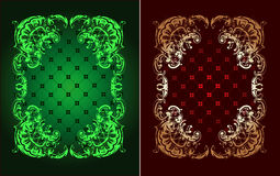 Red And Green Gold Ornate Banner Royalty Free Stock Image