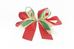 Red green and gold ribbon Royalty Free Stock Image