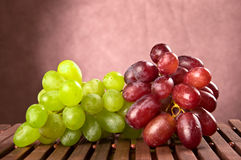 Red and green grapes Royalty Free Stock Image