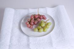 Cut out of a Group of grapes fruits royalty free stock photo