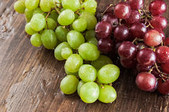 Red and green grapes Royalty Free Stock Photo