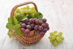 Red and green grapes Royalty Free Stock Photography