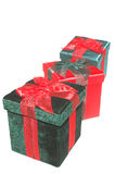 Red and Green Holiday Gifts Royalty Free Stock Photo