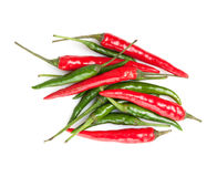 Red and green hot chili peppers Stock Image
