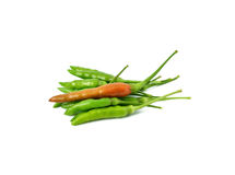 Red and green hot chilli peppers Royalty Free Stock Image