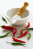 Red and green hot pepper Royalty Free Stock Images