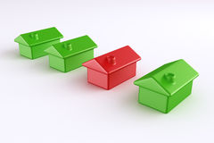 Red and green house Stock Photos