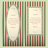 Red-green invitation cards. Stock Photo