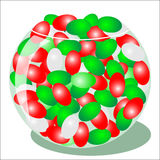 Red and Green Jelly Beans Royalty Free Stock Image