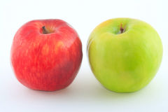 Red and green juicy apples. The red and green juicy fresh apples Royalty Free Stock Photography