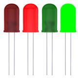 Red and green LEDs Stock Photos