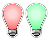 Red and green light Royalty Free Stock Photo