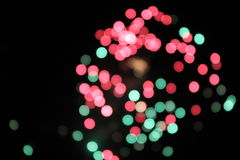 Red and Green light dots Royalty Free Stock Image