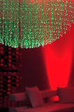 Red & green lights. Red and green lights in lounge background Royalty Free Stock Images