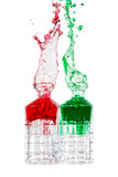 Red and green liquid splash Royalty Free Stock Image