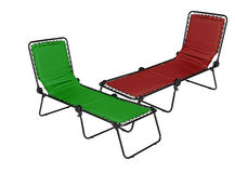 Red and green lounger Royalty Free Stock Photography
