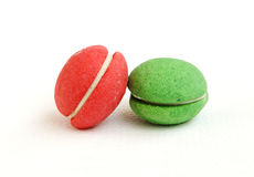 A red and green Macaroons Stock Photography