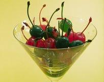 Red and Green Maraschino Cherries Royalty Free Stock Image