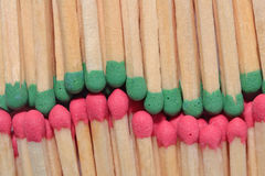 Red and green match background Royalty Free Stock Photos