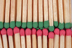 Red and green match background Royalty Free Stock Photography