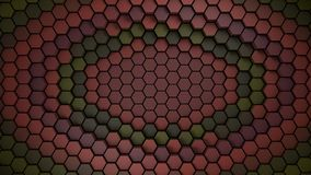 Red and green material hexagons background template. 3d Render. illustration vector illustration