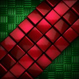 Red and green metal background Royalty Free Stock Photography