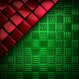 Red and green metal background Royalty Free Stock Photos