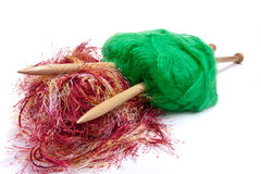 Red and green mohair Stock Image