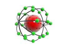 Red and green molecule Stock Photography