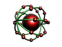 Red and green molecule Royalty Free Stock Photos