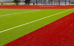 Red and Green Multipurpose Recreation Field Stock Photography