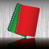 Red and Green notebook. Red and Green two tone notebook Royalty Free Stock Photo