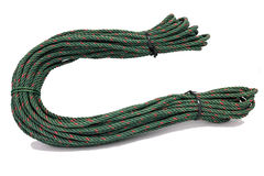 Red-Green Nylon rope Royalty Free Stock Photo