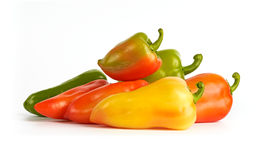 Red, Green, Orange and Yellow Bell Peppers Stock Image